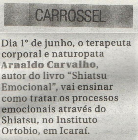 Os Processos Emocionais e o Shiatsu são nota em O Fluminense